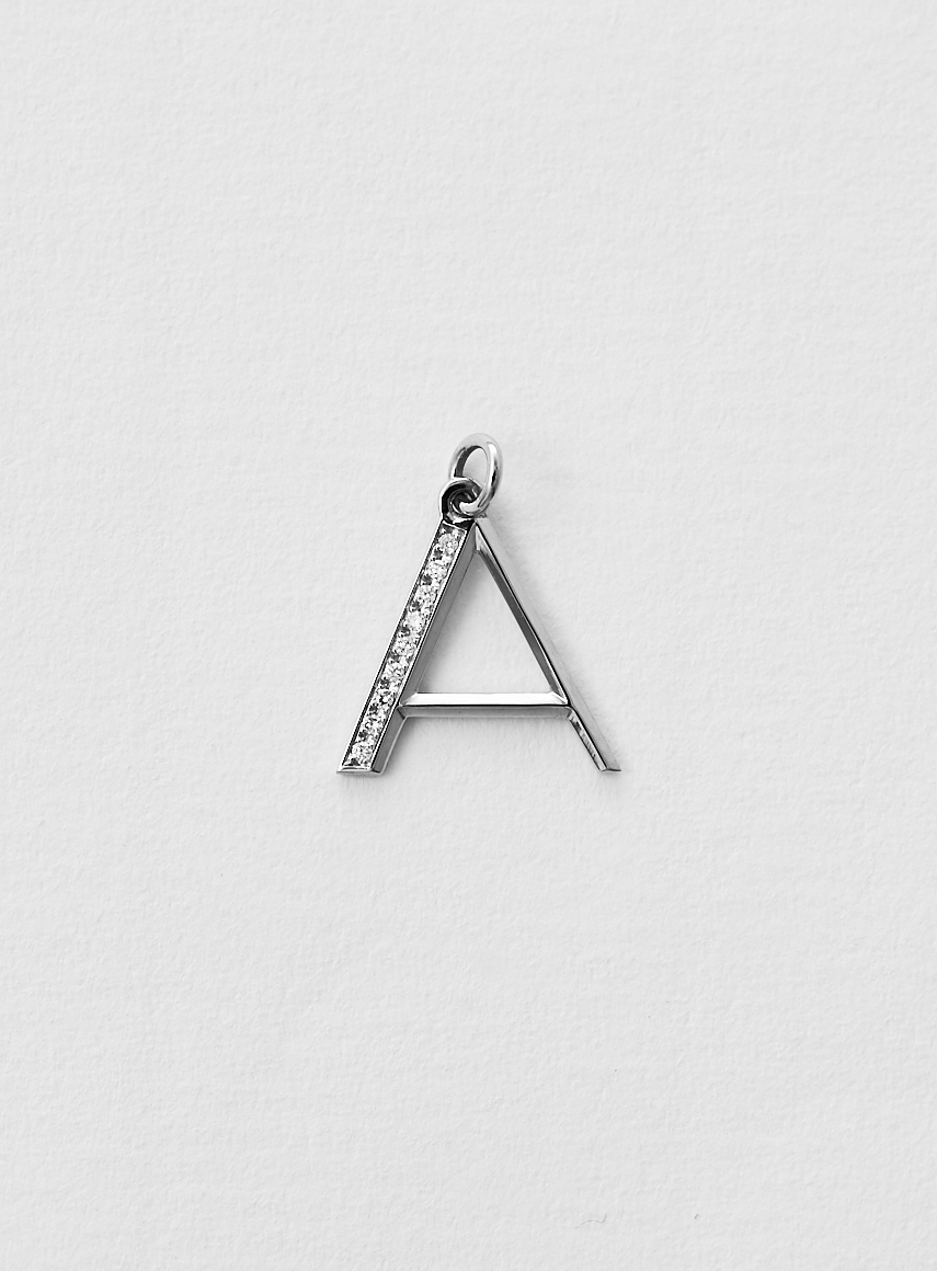 diamond_letter_a white gold