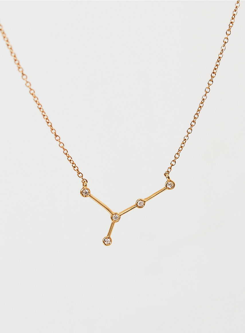 Star Sign Necklace Cancer Gold